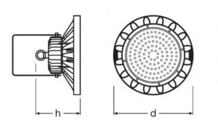 LEDVANCE LED-HighBay Spotlight 120W 6500K BK