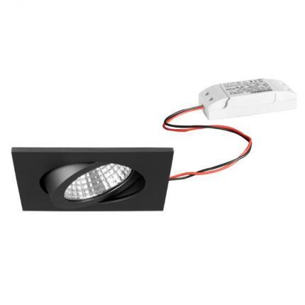 Brumberg LED-Einbaustrahler 6W 230V quadratisch titan-matt