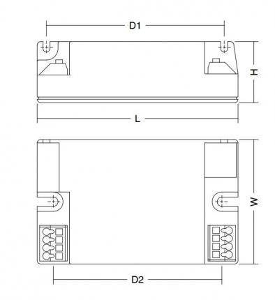 Hadler LED-Treiber ECG 350/500/700mA 26 W 220-240V 1-10V