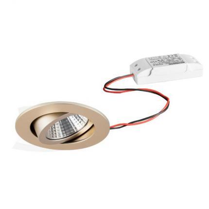 Brumberg LED-Einbaustrahler 6W 230V rund champagner-matt