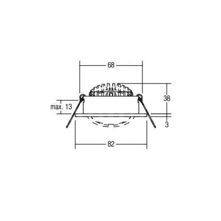 Brumberg LED-Einbaustrahler 7W 230V rund alu-matt