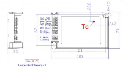 Inventronics Konstantstrom LED-Treiber 40W DALI