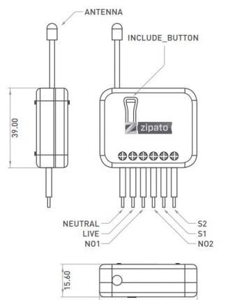 Zipato Smart Home Funk 2-fach Schalter