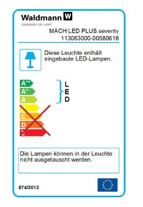 Waldmann LED-Aufbauleuchte Mach LED Plus MQAL 18W 5000K 1650Lm IP67