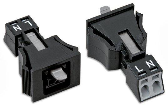 WAGO 2-Snap-In-Buchse Kodierung A 1,50 mm² schwarz