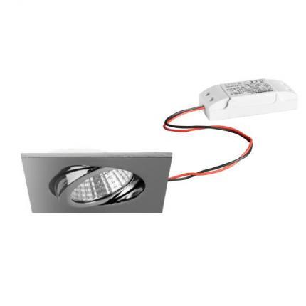 Brumberg LED-Einbaustrahler 6W 230V quadratisch chrom