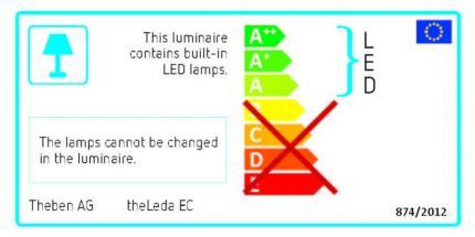 Theben LED-Sensorstrahler 10W 4000K 750lm theLeda EC10 WH schwarz