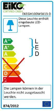 EIKO EG DALI LED-Highbay Strahler 100W 13500Lumen