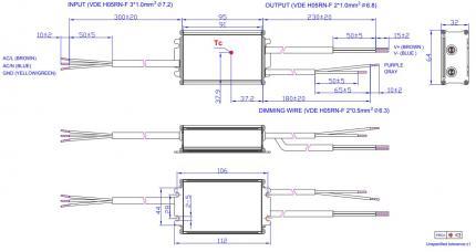 60W Constant Current IP67 1050mA LED Driver Inventronics