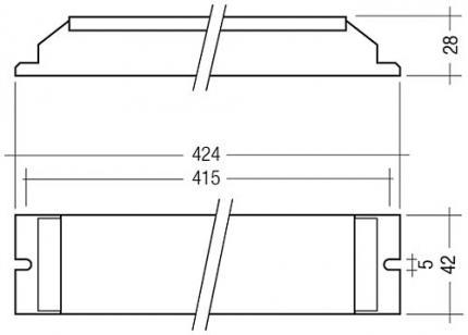 Tridonic PC 1X58 / 34 COMBO 220-240V 50/60HZ