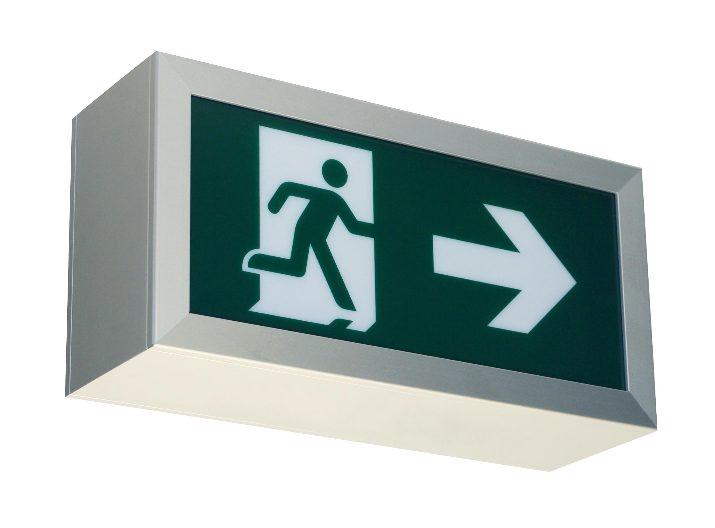 ER Elektronik DISPLAY D150 Escape sign luminaire AUTOTEST 3h EKW 21 m 4000 K
