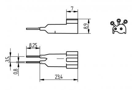 BJB Set'n'Drive (S'n'D) Parameter resistor 27 kOhm for LED driver