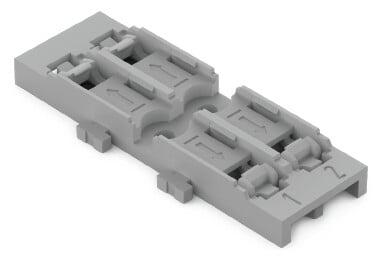 WAGO Befestigungsadapter 2-fach Schraubbefestigung grau