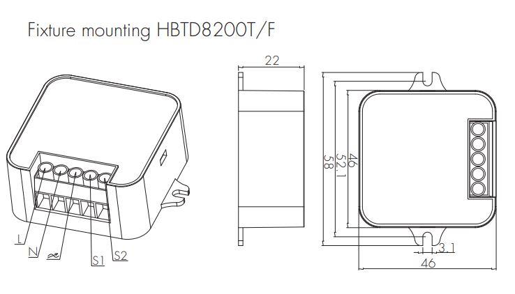 Hytronik Bluetooth On-Off LED-Switch HBTD8200S/F