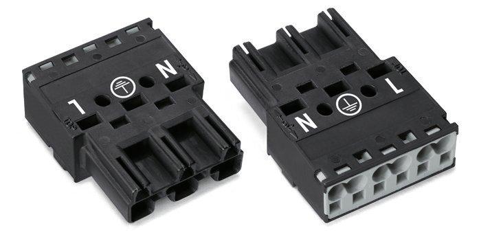 WAGO Stecker 3-polig Kod. A 4 mm² schwarz