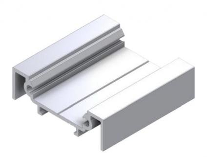 LED profile for LED tape aluminum with plastic cover for mounting silver 2m WELOOM
