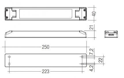 Tridonic LED-Treiber LCU 60W 24V TOP SR