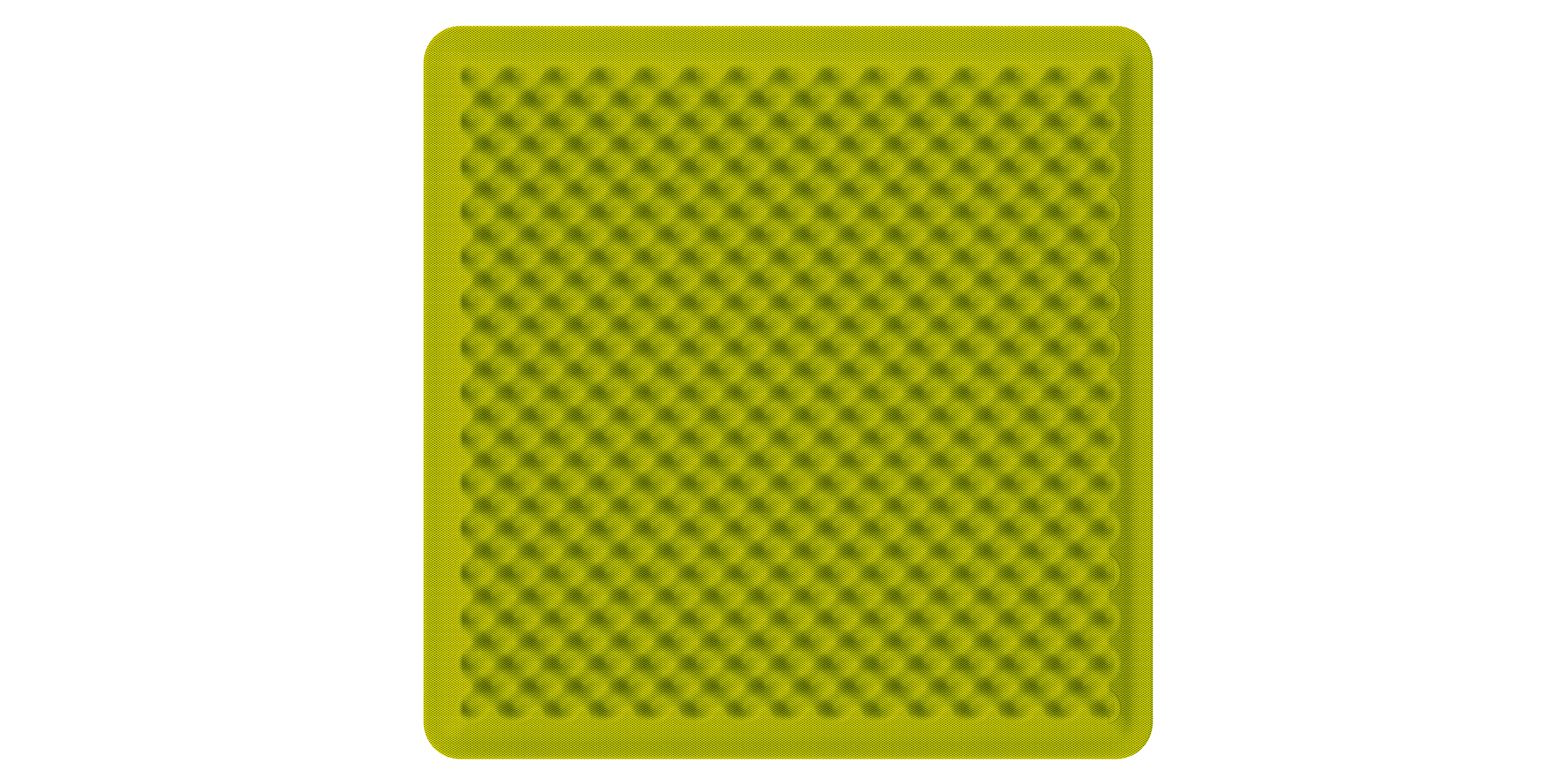 Artemide Akustikpanel Schallabsorbierend EGGBOARD WALL SUSP./CEILING ACOUSTIC PANEL 80x80 GREEN