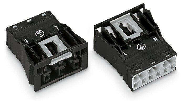 WAGO 3-Snap-In-Buchse 4 mm² schwarz