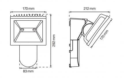 T-Strahler 30 LED 4000 K schwarz