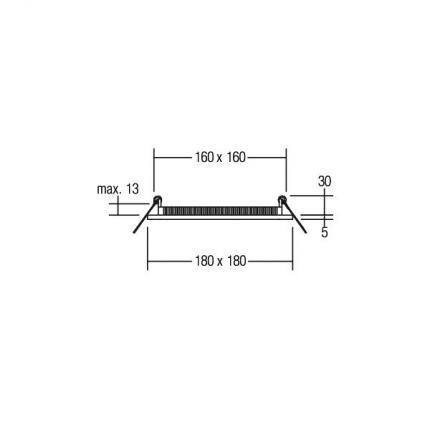 Brumberg LED-Einbau-Panel 16W 24V quadratisch silber