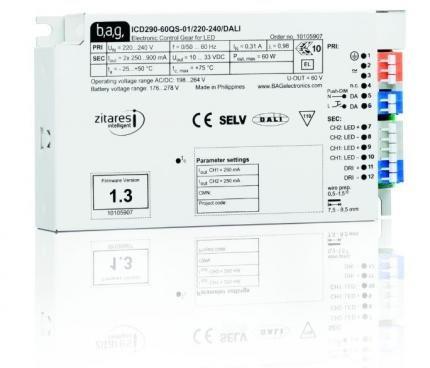 BAG electronics LED-Treiber ICD290-60QS-01/220-240/DALI
