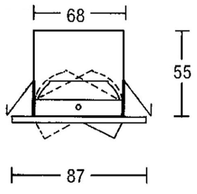 Brumberg Hochvolt-Deckeneinbaustrahler GX5,3 IP20 Max. 50Watt 192815