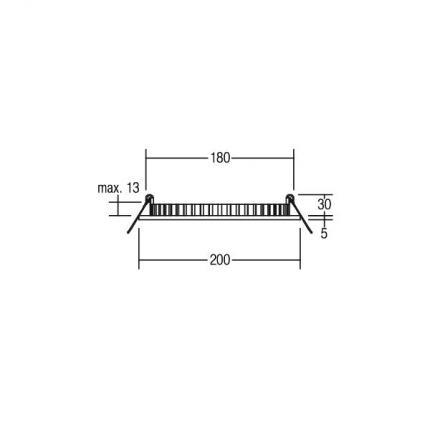 Brumberg LED-Einbau-Panel 16W 24V 4000K rund silber