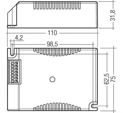 Tridonic PCI 50 TOP C011 V2 220-240V 50/60Hz