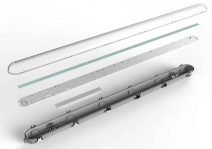 LED-Feuchtraumleuchte 54W 4000K 6800 Lumen Ropag