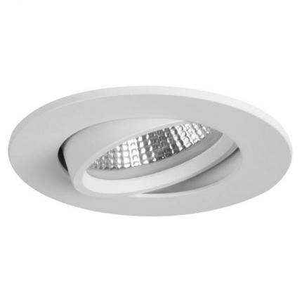 Brumberg LED recessed spotlight 5,5W 350mA round structured white