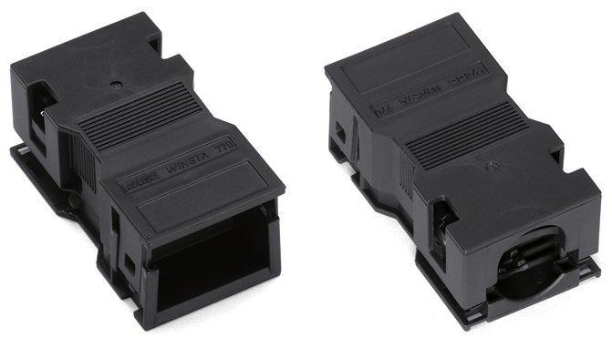 WAGO Zugentlastungsgehäuse 2-polig Rastschelle 5-9 mm 35 mm schwarz