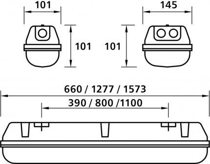 LED Waterproof luminaire ZALUX ALHAMA LED-M 1x1.5 ET PC SELV 4000K Inox