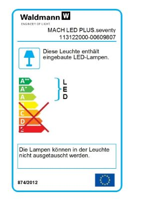 Waldmann LED surface-mounted light Mach LED Plus MQAL 42W 5000K 3700Lm IP67