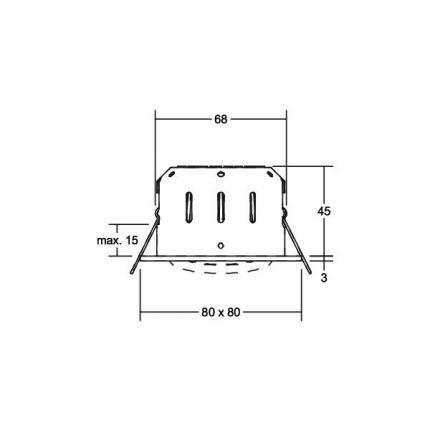 Brumberg LED-Einbaustrahler 5,5W 350mA quadratisch chrom