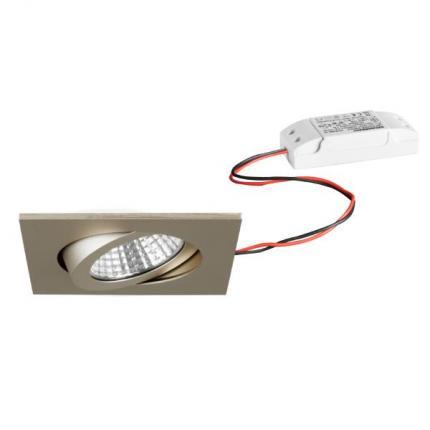 Brumberg LED-Einbaustrahler 6W 230V quadratisch champagner