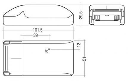 Tridonic LED EVG LCBI 15W 350mA BASIC PHASE-CUT SR ADV