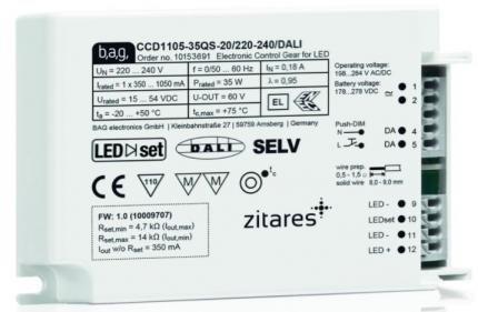 BAG electronics LED-Driver CCD1140-55QS-20/220-240/DALI