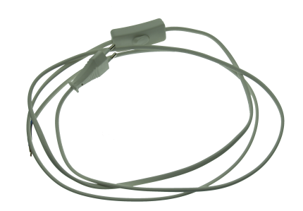 Connecting lead 2m plug+switch white