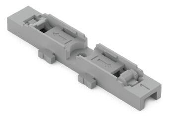 WAGO Befestigungsadapter 1-fach Schraubbefestigung grau