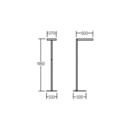 Brumberg LED-Stehleuchte 65W 4000K 12000lm silber