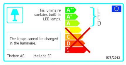 Theben LED-Sensor spotlight 20W 4000K 1500lm theLeda EC20 black