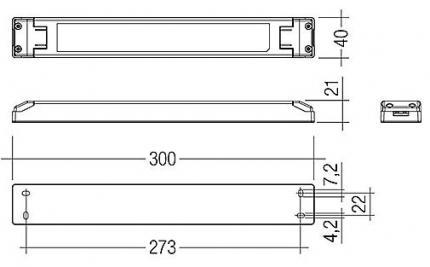 LED EVG LCU 96W 24 V IP20 EXC