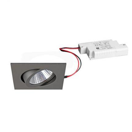 Brumberg LED recessed spotlight 7W 230V square titanium matt