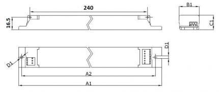 Philips LED EVG Xitanium 75W 0.12A 0.4A 220V 230V