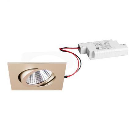 Brumberg LED-Einbaustrahler 7W 230V quadratisch champagner
