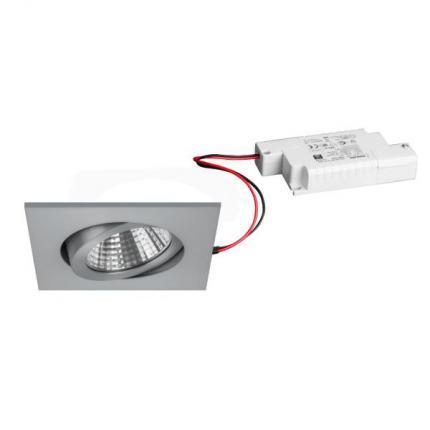 Brumberg LED recessed spotlight 7W 230V square aluminium matt