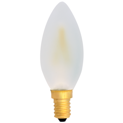 EiKO LED-Filament Kerze E14 matt 2W 2700K Dimmbar