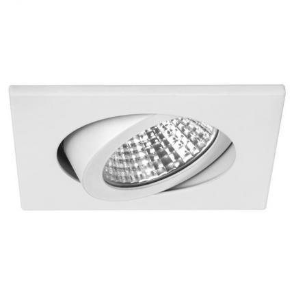 Brumberg LED recessed spotlight 7W 230V square white