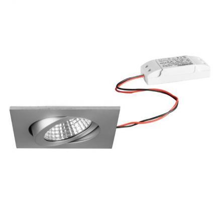 Brumberg LED-Einbaustrahler 6W 230V quadratisch alu-matt